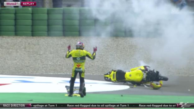 Video «Moto2: GP von Holland, Sturz Luis Salom» abspielen
