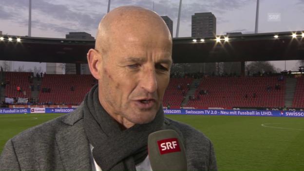 Video «Sion-Coach Peter Zeidler trotz Sieg unzufrieden» abspielen