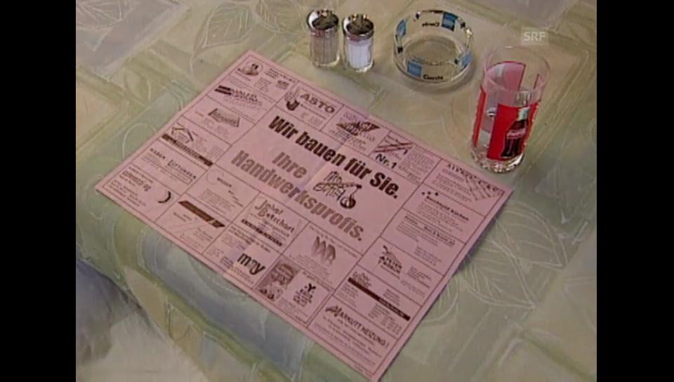 11.09.2001: Abzocke mit Tischsets