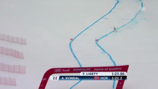 Video «Ski-WM: Super-G, Fahrt von Aksel Svindal» abspielen
