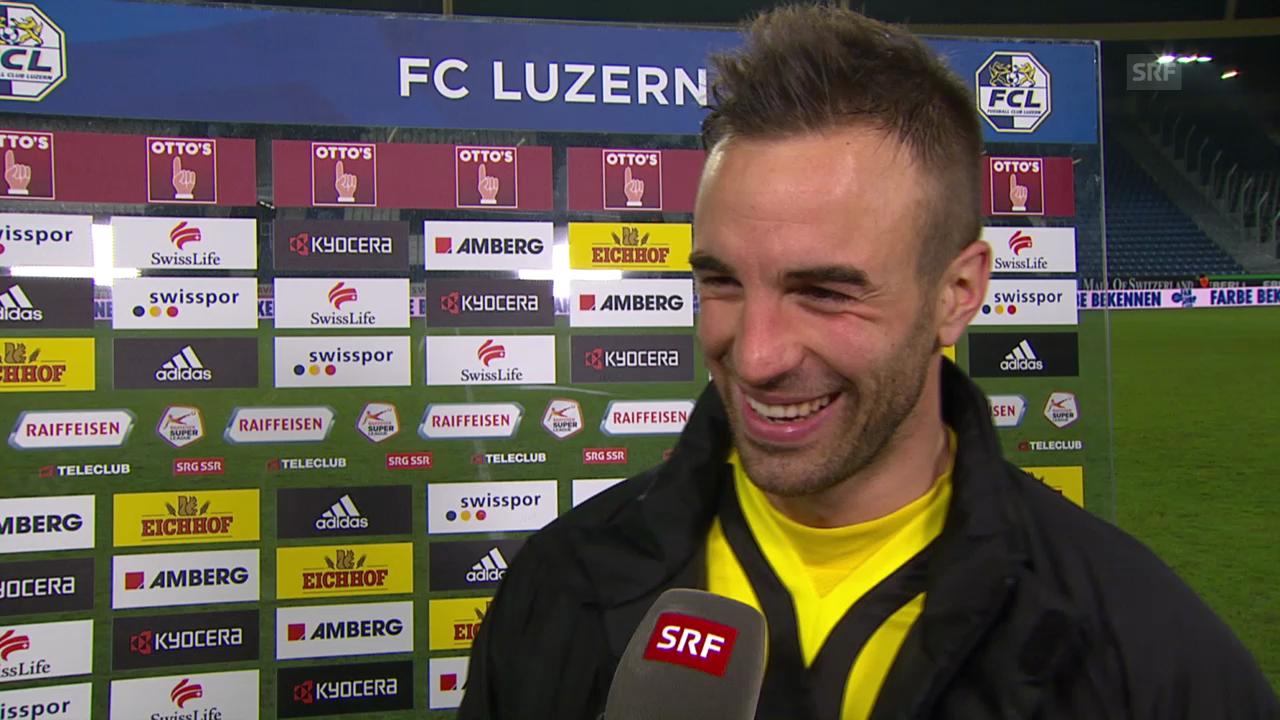 Fussball: Luzern - YB, Interview mit Scott Suter