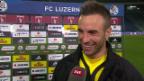 Video «Fussball: Luzern - YB, Interview mit Scott Suter» abspielen