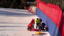 Video «Viletta stürzt schwer und wird abtransportiert» abspielen