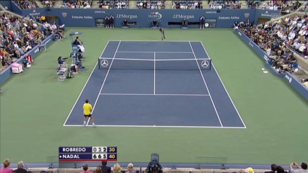 Video «Highlights Nadal - Robredo» abspielen