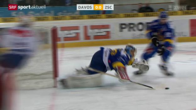 Video «Eishockey, NLA: Davos - ZSC Lions» abspielen