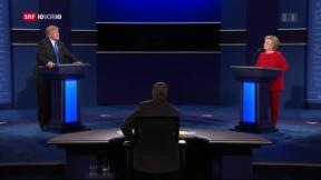 Video «Clinton geht nach TV-Duellen in Führung» abspielen