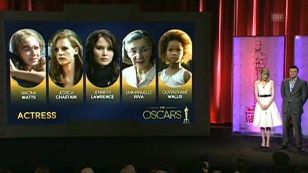 Video «Bekanntgabe der Oscar-Nominierten 2013 (englisch)» abspielen