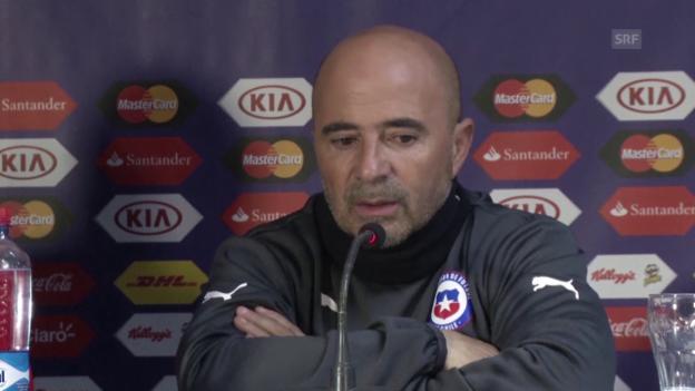 Video «Chile-Coach Sampaoli: «Ein Final für uns»» abspielen