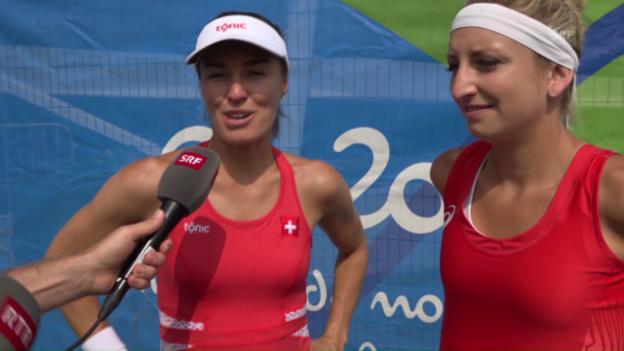 Video «Schweizer Mixed-Duo: Von der gegnerischen Nervosität gepusht» abspielen