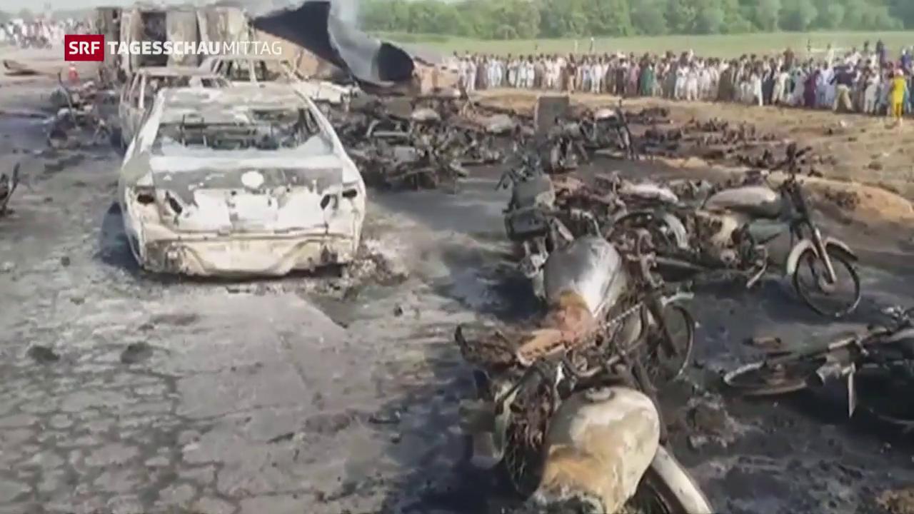 Tanklaster-Explosion führt zu verheerendem Unglück