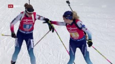 Link öffnet eine Lightbox. Video Biathlon-Staffel kann gute Position nicht ins Ziel bringen abspielen