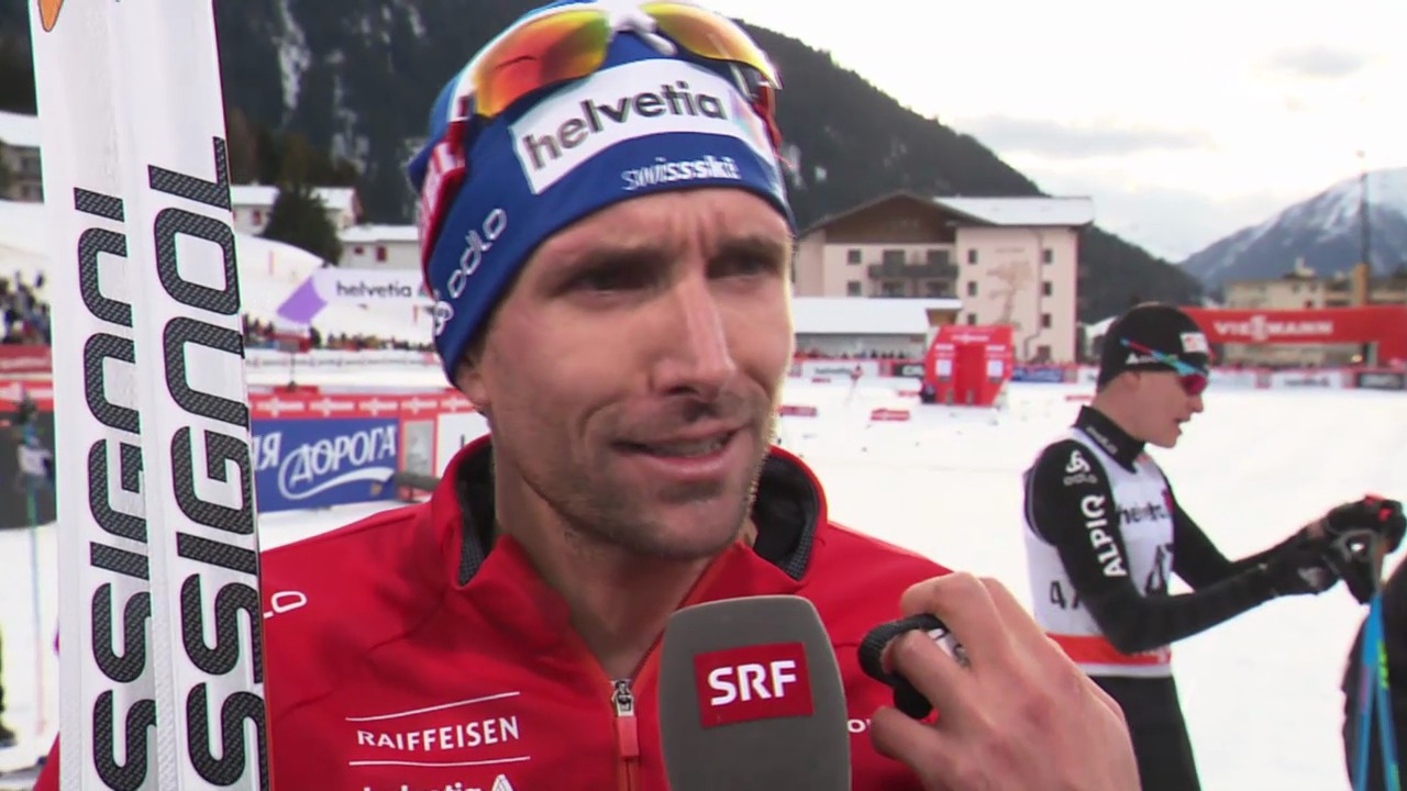 Langlauf: 15 km klassisch Davos, Interview Perl