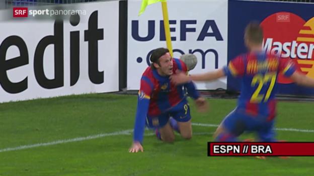 Video «Fussball: Marco Streller im «sportpanorama» über sein Tor gegen Manchester United» abspielen