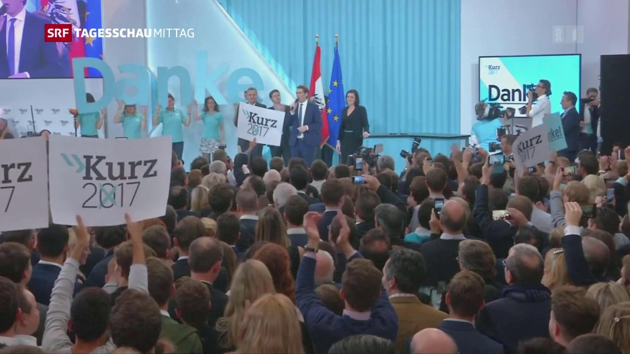 Wahlsieger Kurz will mit FPÖ Regierung bilden