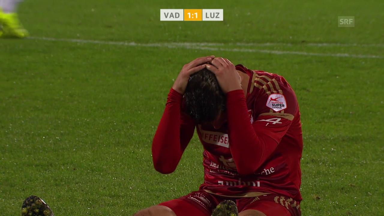 Fussball: Super League 2015, 9. Runde, Vaduz-Luzern