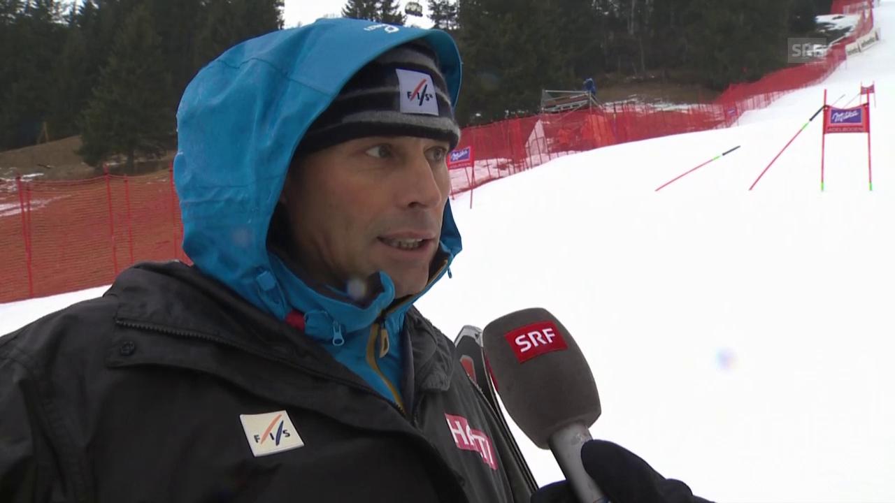FIS-Rennleiter Markus Waldner zur Absage in Adelboden