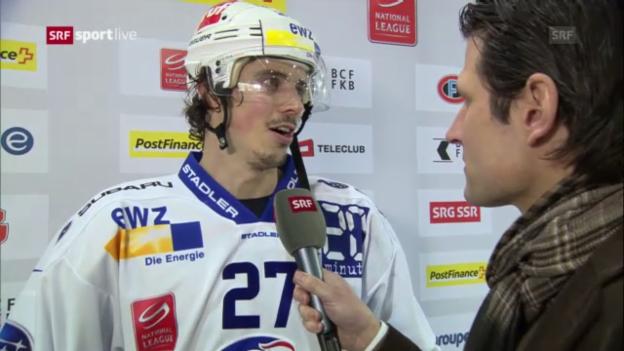 Video «Eishockey: Fribourg-ZSC Lions, Interview mit Roman Wick» abspielen