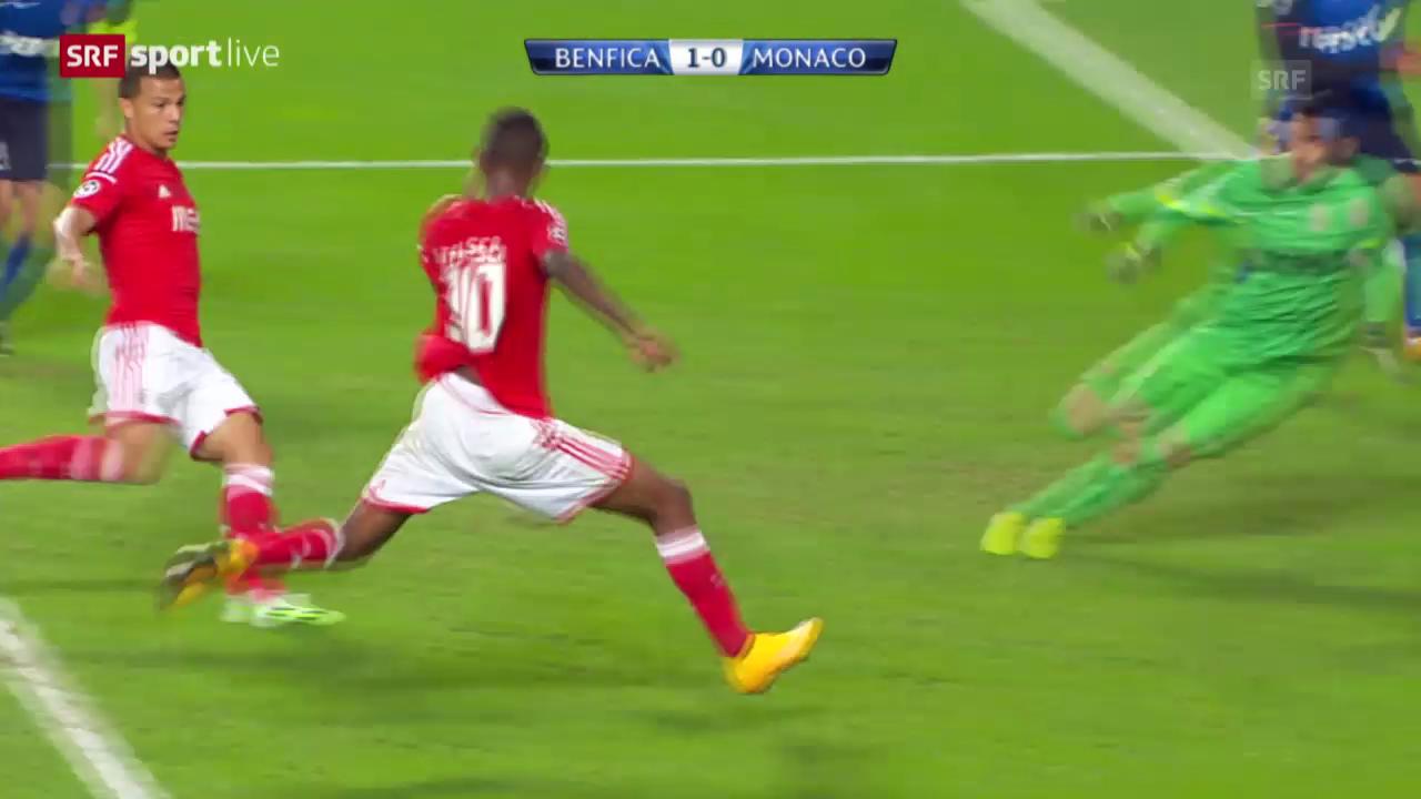 Fussball: CL, Benfica - Monaco