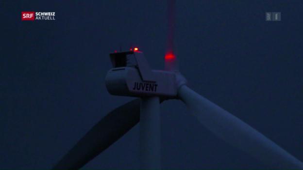 Video «Beleuchtete Windräder» abspielen