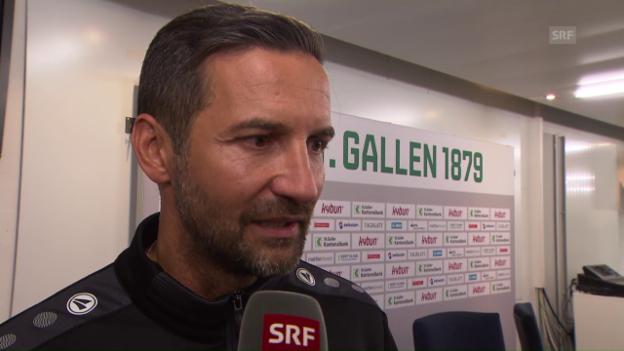Video «FCSG-Trainer Joe Zinnbauer: «Alles schon gehabt»» abspielen