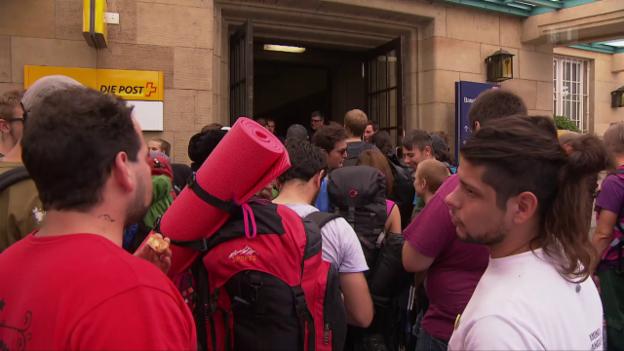 Video «G20-Gegner am Badischen Bahnhof» abspielen