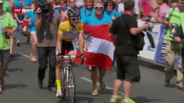 Video «Rad: Zoidl gewinnt Österreich-Rundfahrt («sportpanorama»)» abspielen