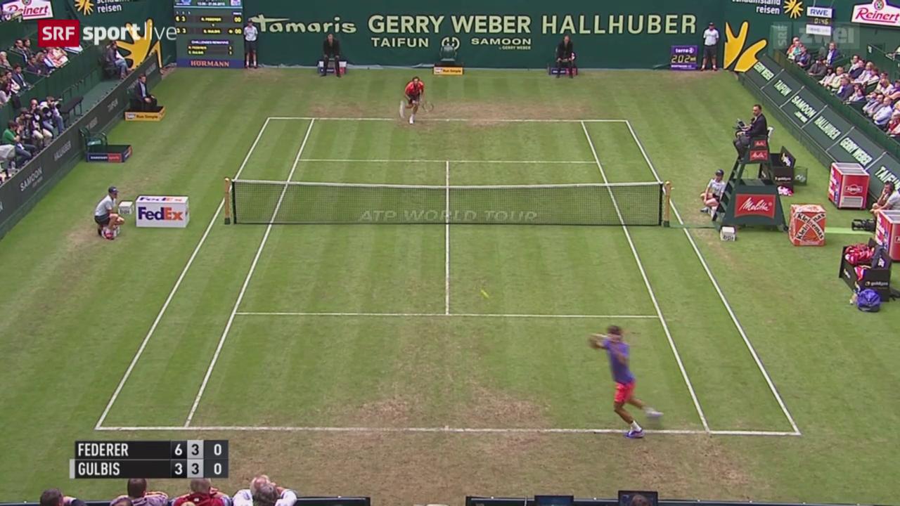 Tennis: Federers 2. Auftritt in Halle