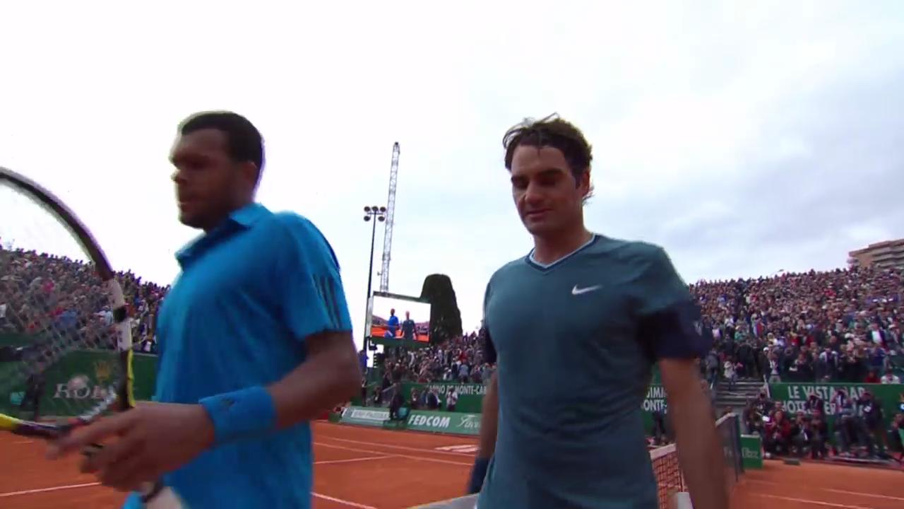 Tennis: ATP-1000-Turnier Monte Carlo, Zusammenfassung Federer - Tsonga
