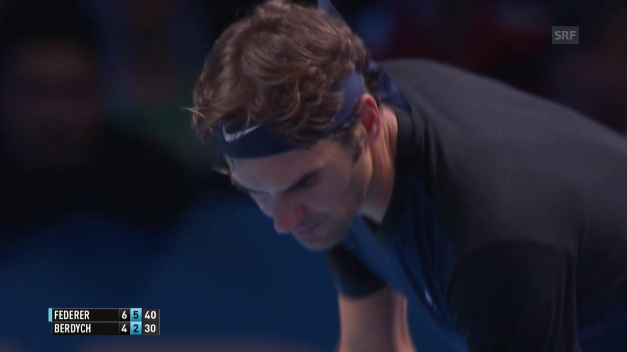 Tennis: ATP Finals, ZF Federer - Berdych