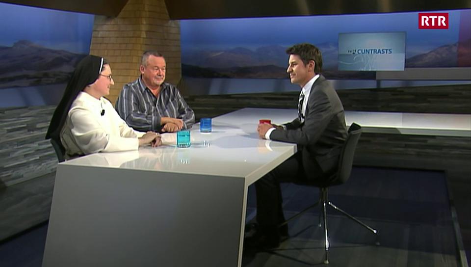 Discurs cun sora Magdalena e pader Silvio