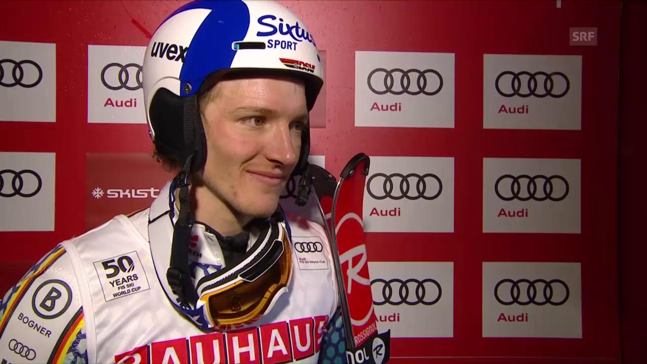 Strasser: «Ich habe meine Chance genutzt» (engl.)