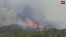 Link öffnet eine Lightbox. Video Waldbrände in Südfrankreich dauern an abspielen