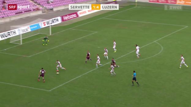 Video «Fussball: Schweizer Cup, Servette - Luzern» abspielen