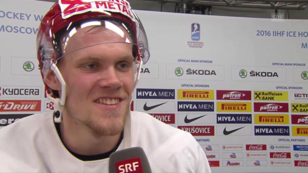 Video «Dänemarks Ehlers: «Kenne jeden Schweizer Spieler»» abspielen