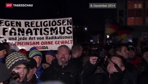 Video «Erneute «Pegida»-Kundgebung in Dresden» abspielen
