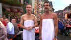 Video «Roman Kilchsperger und Reto Scherrer im Badtüchli» abspielen