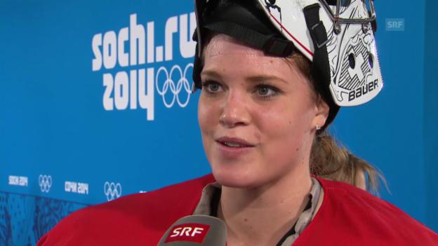 Video «Eishockey: Interview mit Florence Schelling (sotschi direkt, 15.02.2014)» abspielen