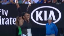 Video «Serena Williams lässt Lucic-Baroni keinen Stich» abspielen