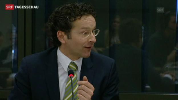 Video «Der designierte Eurogruppenchef Jeroen Dijsselbloem. (Tagesschau 21.01.2013)» abspielen