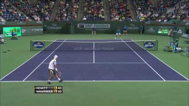 Video «3. Runde Stanislas Wawrinka - Lleyton Hewitt» abspielen