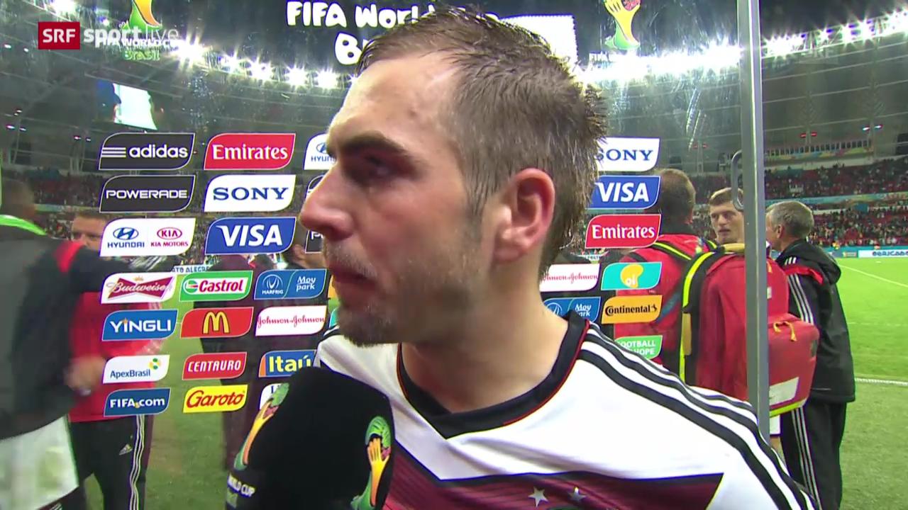 FIFA WM 2014: Deutschland - Algerien, Interview mit Philipp Lahm