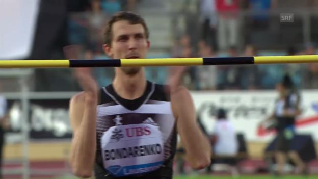 Video «LA: Athletissima 2014, Bondarenkos Siegsprung über 2,40 m» abspielen