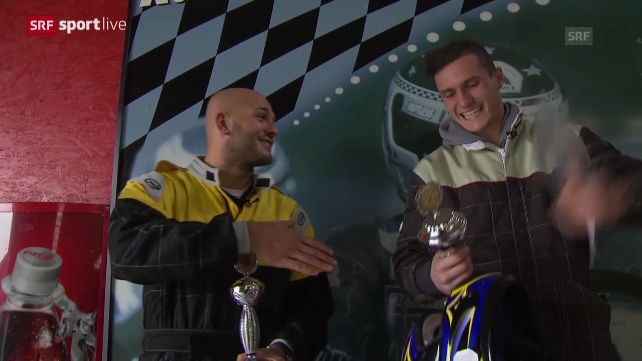 Xhaka und Ajeti geben Gas - die FCB-Youngsters auf der Go-Kart-Bahn