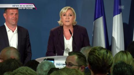 Video «Le Pen sieht ihre Partei als Sieger» abspielen
