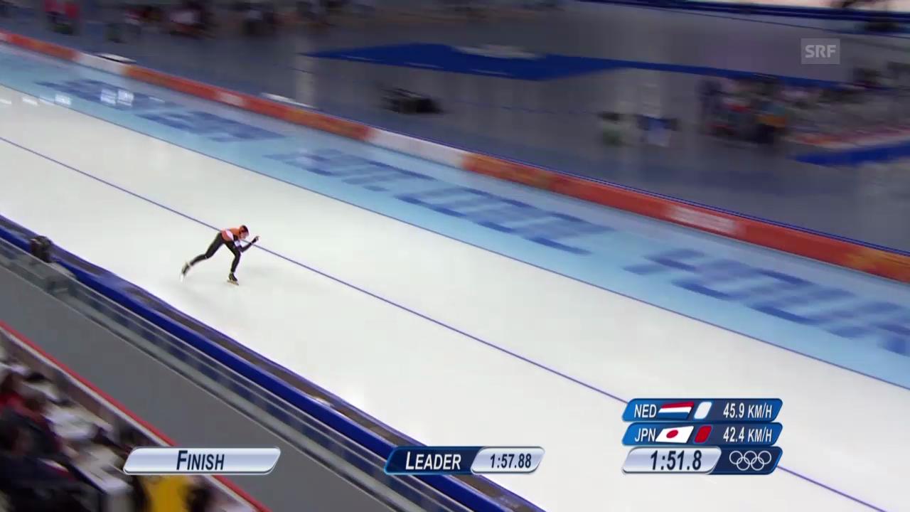 Eisschnelllauf: Zusammenfassung 1500 m Frauen (16.02.2014)