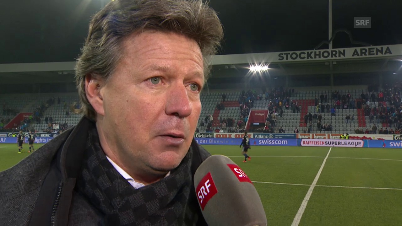 Fussball: Super League, Thun - Basel, Interview Jeff Saibene