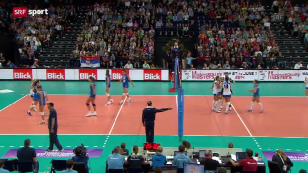 Video «Volley-EM: Zusammenfassung Serbien - Italien» abspielen