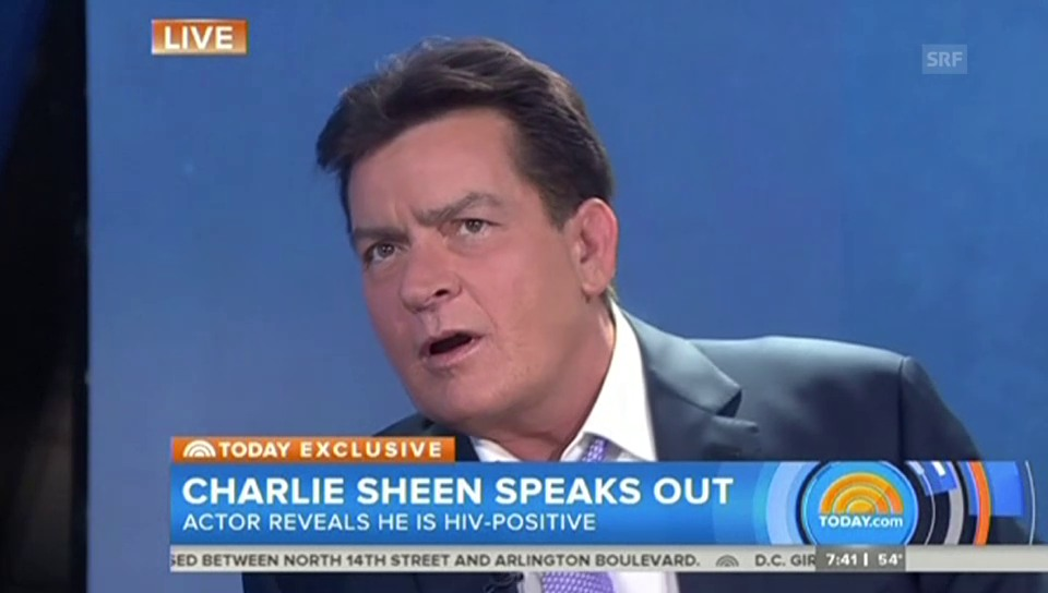 Charlie Sheen gesteht HIV-Infektion