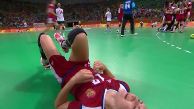 Video «Nach Handball-Krimi Norwegen gegen Russland weinen alle» abspielen