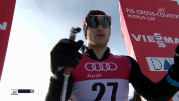 Video «Ski nordisch: Langlauf-Weltcup in Davos, Sprint, Jöri Kindschi» abspielen